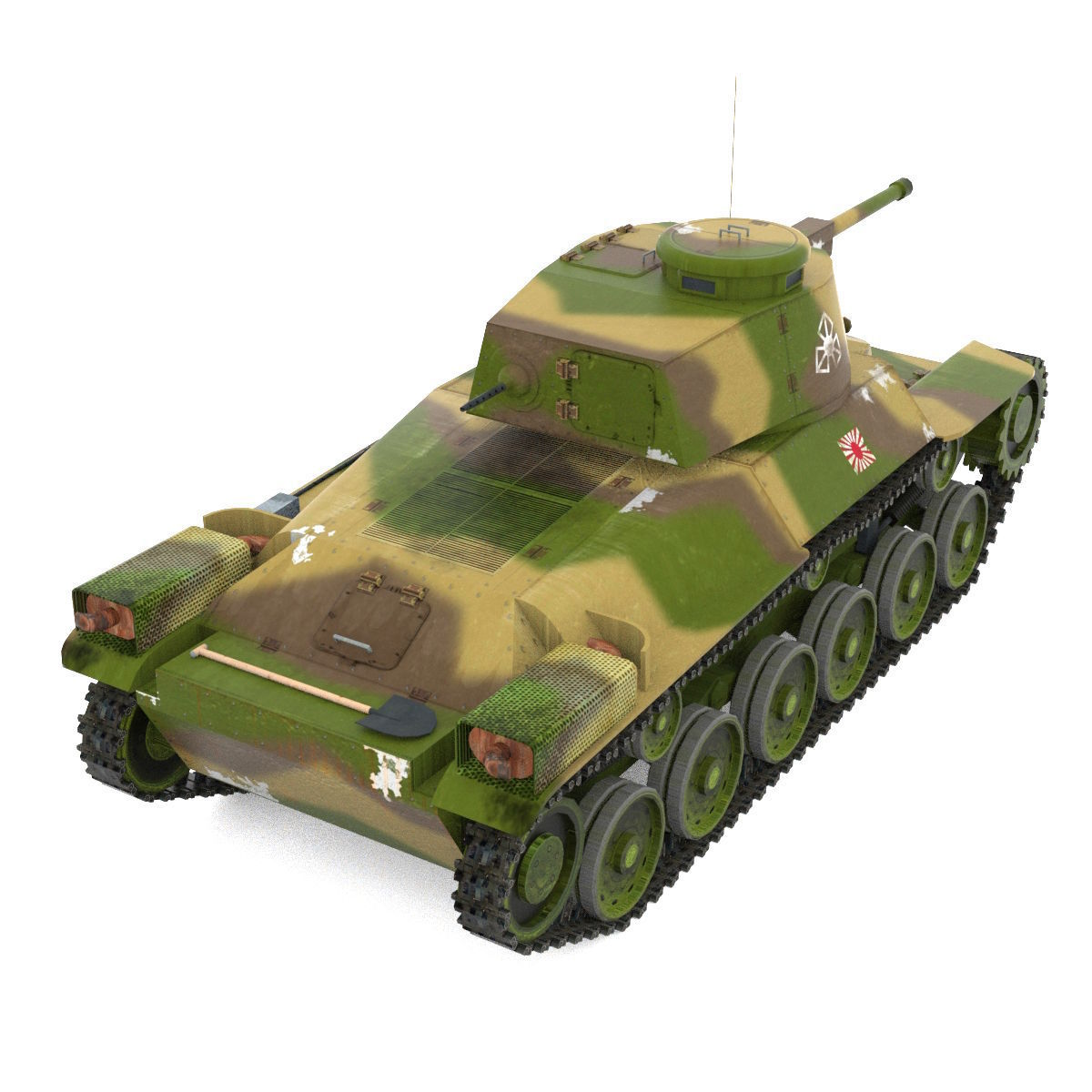 Japanes Tanks Collection 3d Model Game Ready Obj 3ds