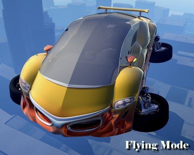 VX455 Flying Car3D model