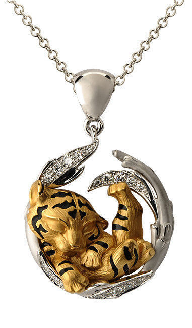 tiger cub replica pendants magerit 3d model 3d printable