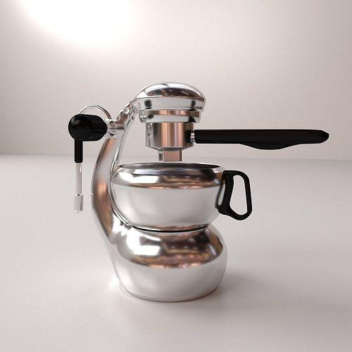 Espresso Maker 3d Model 3ds Fbx Blend Dae