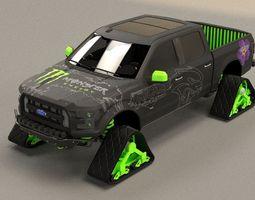 FORD F150 Raptor Monster Energy 3D Model