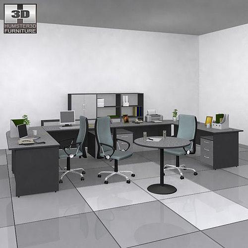 office set 3d model low-poly max obj mtl 3ds fbx c4d lwo lw lws 1