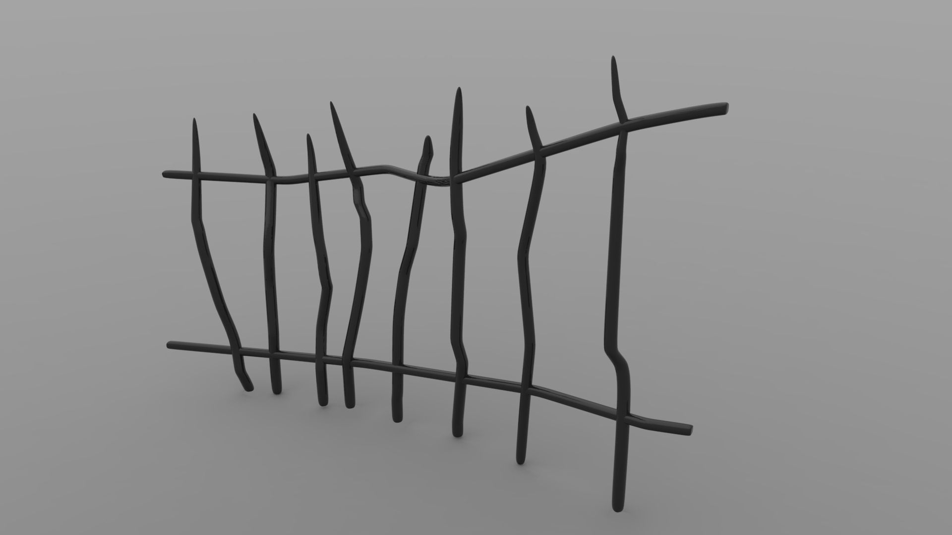 Printable Spooky Fence 3D Model 3D printable .stl ...