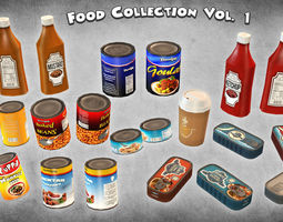 3d model food collection vol 1 low-poly