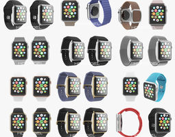 3D Apple Watch Complete Collection