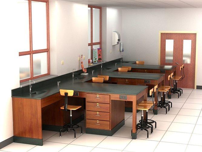 science laboratory 01 3d model max obj 3ds fbx c4d lwo lw lws 1