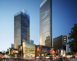 Skyscraper Business Center detail city-block 3D model