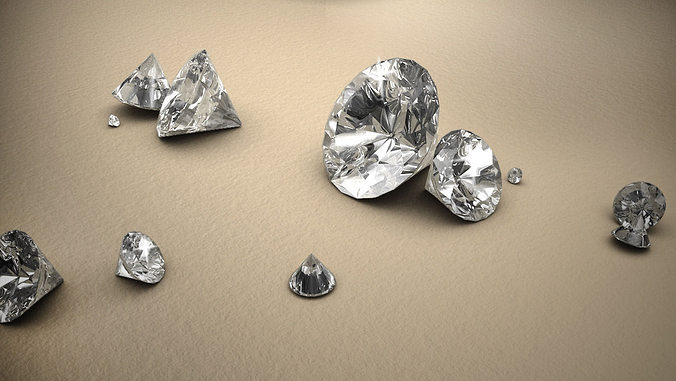 diamond 3d model obj fbx ma mb 1