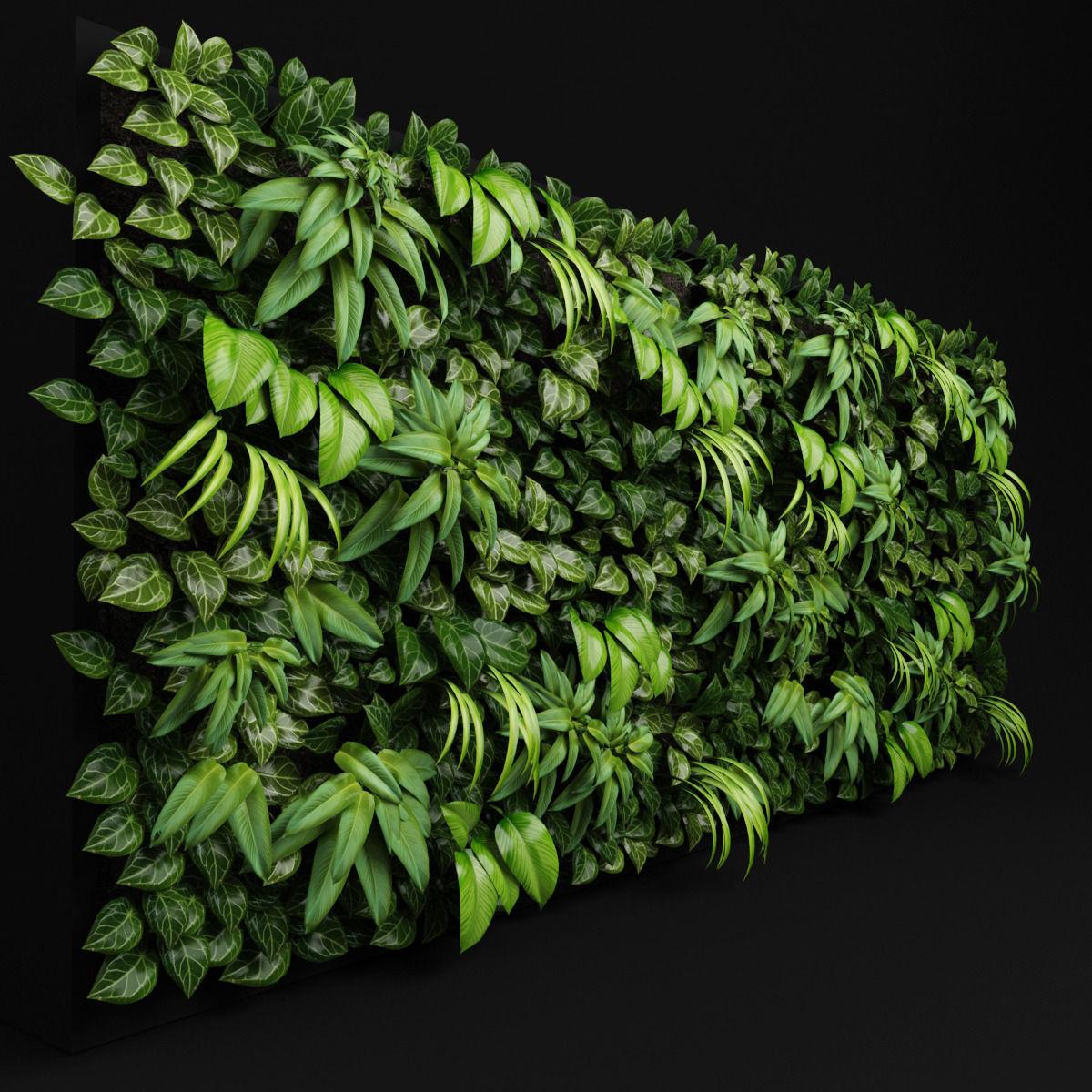 Green wall 3D Model MAX OBJ 3DS FBX MTL | CGTrader.com