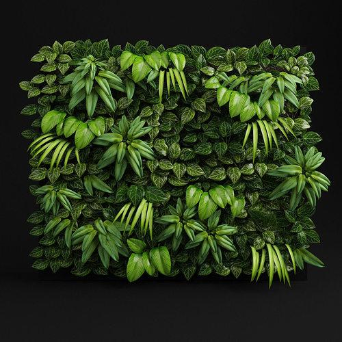 green wall 3d model max obj 3ds fbx stl mtl 1