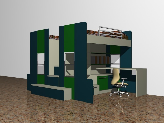 Bunker Bed Design No 43D model