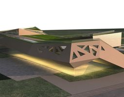 Museum Building 3D model