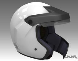 Rally Car Helmet 2 3D Model