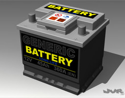Generic Car Battery 3D Model