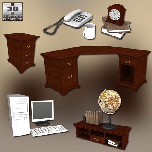 Home WorkPlace 3 Set3D model