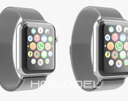 Apple Watch Steel Milanaise 3D Model