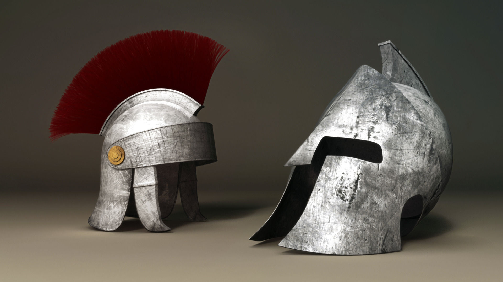 Spartan And Roman Helmet 3d Model Obj Fbx Ma Mb Mtl