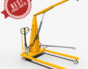 Hand-operatived crane 3D model