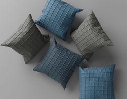 Pillows bed 3D model