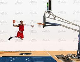 Basketball court 3D asset