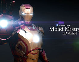 Iron Man mark 42 - Rigged - 3D Model
