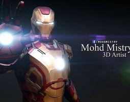 Iron Man mark 42 - Rigged - 3D Model