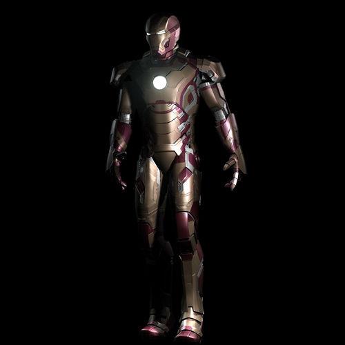 Iron Man Mark 42 3d Model Iron Man Mark 42 Rigged