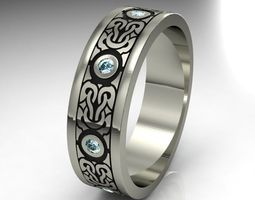 3d print model ring gold 0012