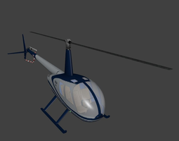 Robinson R44 Raven 3D asset