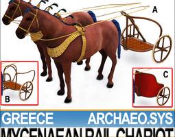 3D model Chariot Greek Mycenaean 3 Rail 1200 BC