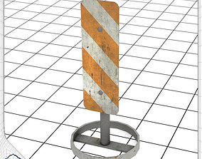 3D model Vertical Panel Reflector Sign