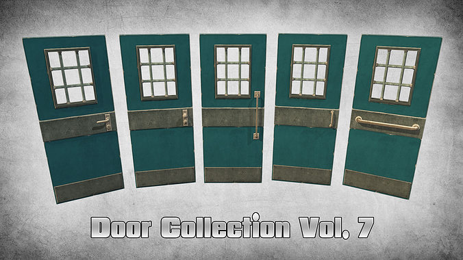 door collection vol 7 3d model low-poly max obj mtl 3ds fbx dxf dae 1