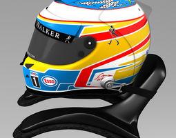 3d asset VR / AR ready fernando alonso helmet 2015