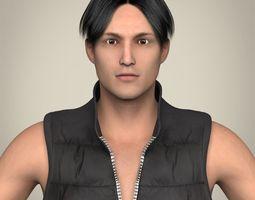 realistic young handsome man 3d model max obj 3ds fbx c4d lwo lw lws
