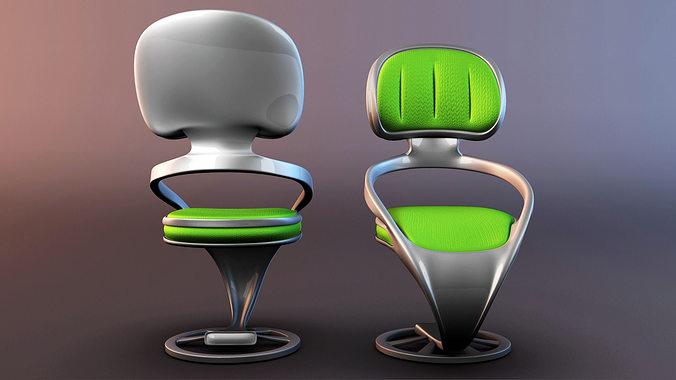 chair pack 3d model obj mtl fbx ma mb 1