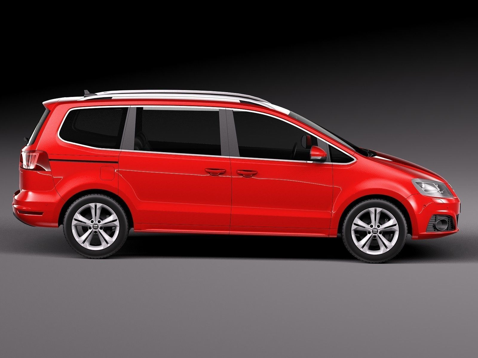 seat alhambra 2016 3d model max obj 3ds fbx c4d lwo. Black Bedroom Furniture Sets. Home Design Ideas
