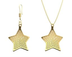 earring and necklace star type 1 3d print model