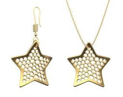 3d printable model earring and necklace star type 2