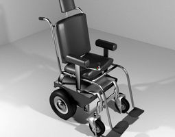 3d hospital furniture self-control wheelchair