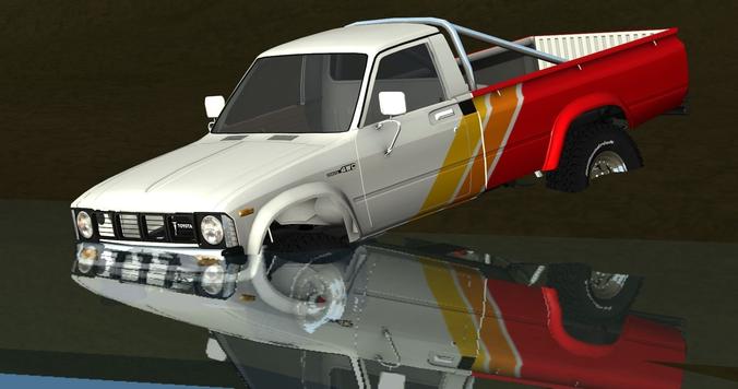 3d Model 1979 1983 Toyota Hilux 4x4 Vr Ar Low Poly 3ds