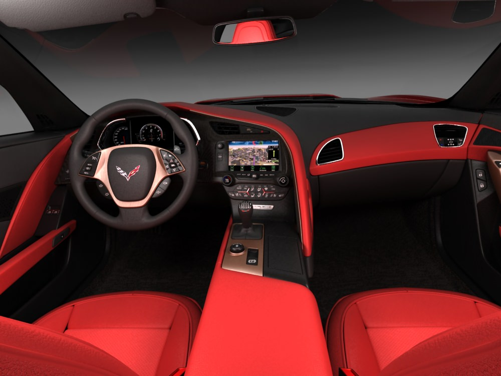 chevrolet corvette stingray with interior 3d model max obj 3ds fbx c4d lwo lw lws. Black Bedroom Furniture Sets. Home Design Ideas