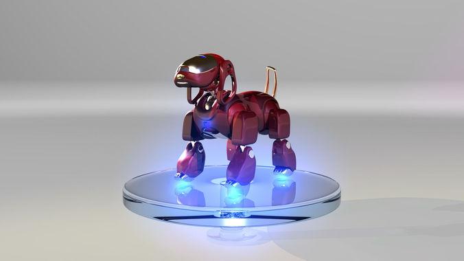 Iron dog3D model