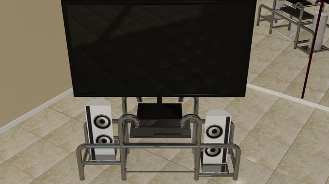 Home entertainment system with stand3D model