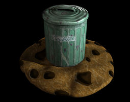 3d asset low-poly biscuit tin