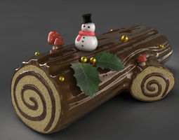 3d model yule log