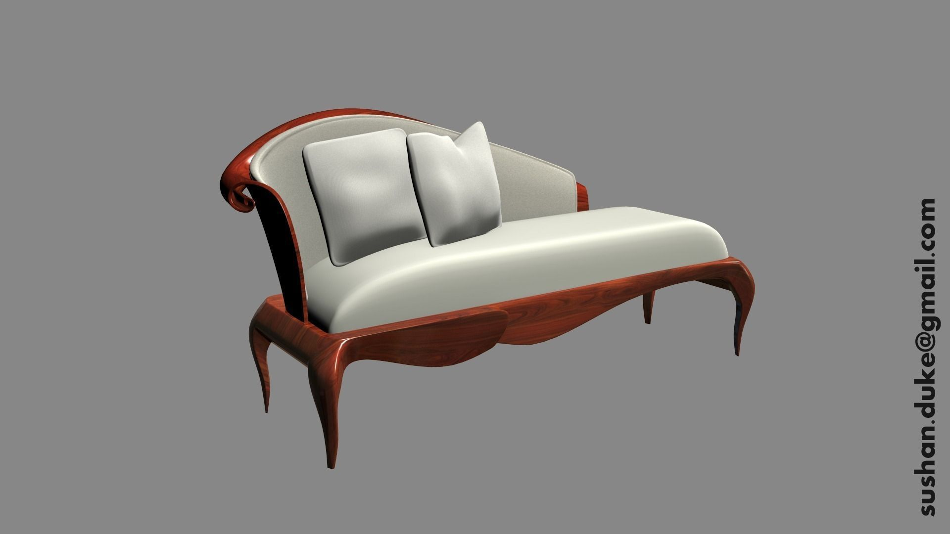 Chaise textured 3d model obj ma mb for Chaise modele