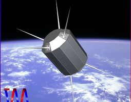 us uhf satellite 3d model