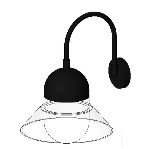 lampe murale - applique 3d model rfa rvt 1
