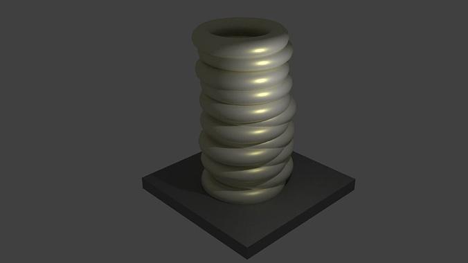 ring vase 3d model dae 1