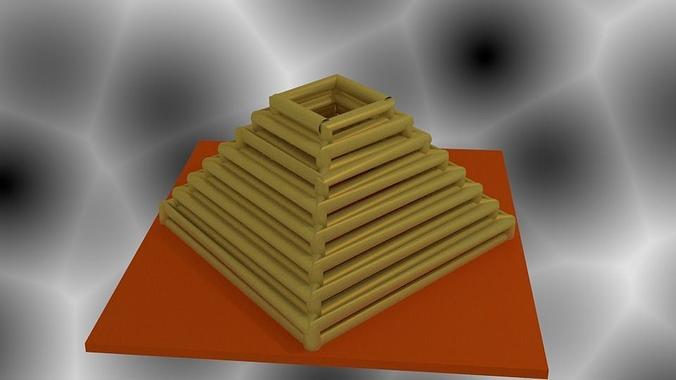 pyramid vase 3d model  1